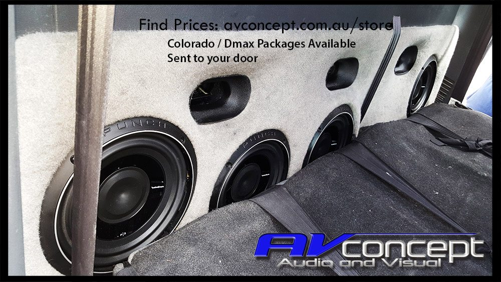 Holden Colorado Stereo Subwoofer Solution