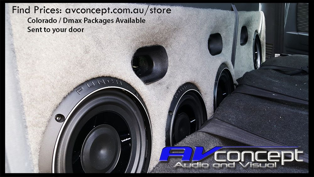 Holden Colorado Stereo 4 x Subwoofer Solution