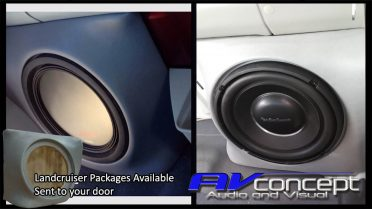 Landcrusier fibreglass subwoofer box stereo
