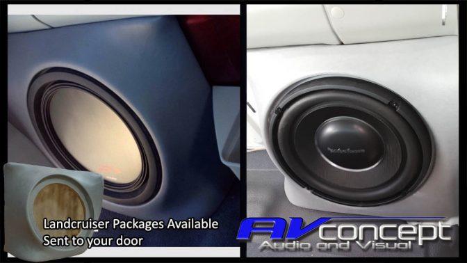 Landcrusier fibreglass subwoofer box stereo