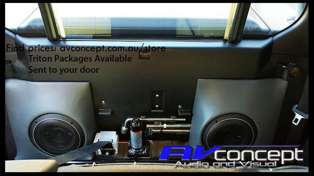 Mitsubishi GLX-R triton stereo subwoofer box