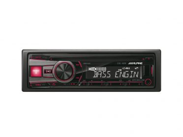 CD-Receiver-USB-Controller-CDE-190R-red-front