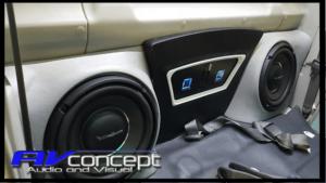 Toyota Landcruiser Ute Stereo SUb boxes