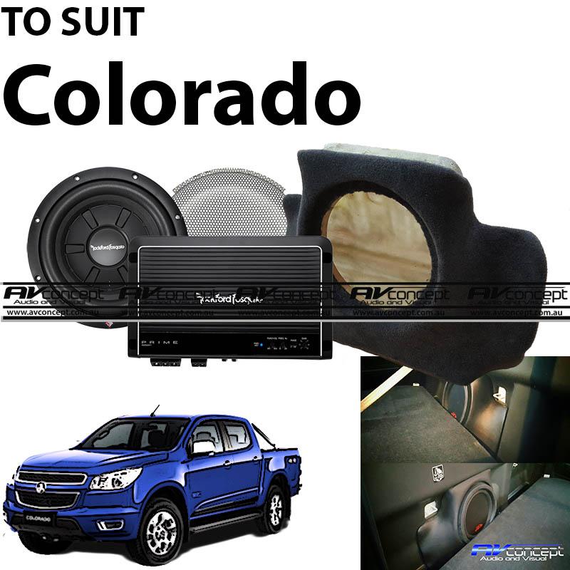 Holden Colorado Subwoofer & amplifier Upgrade ultimate factory boost