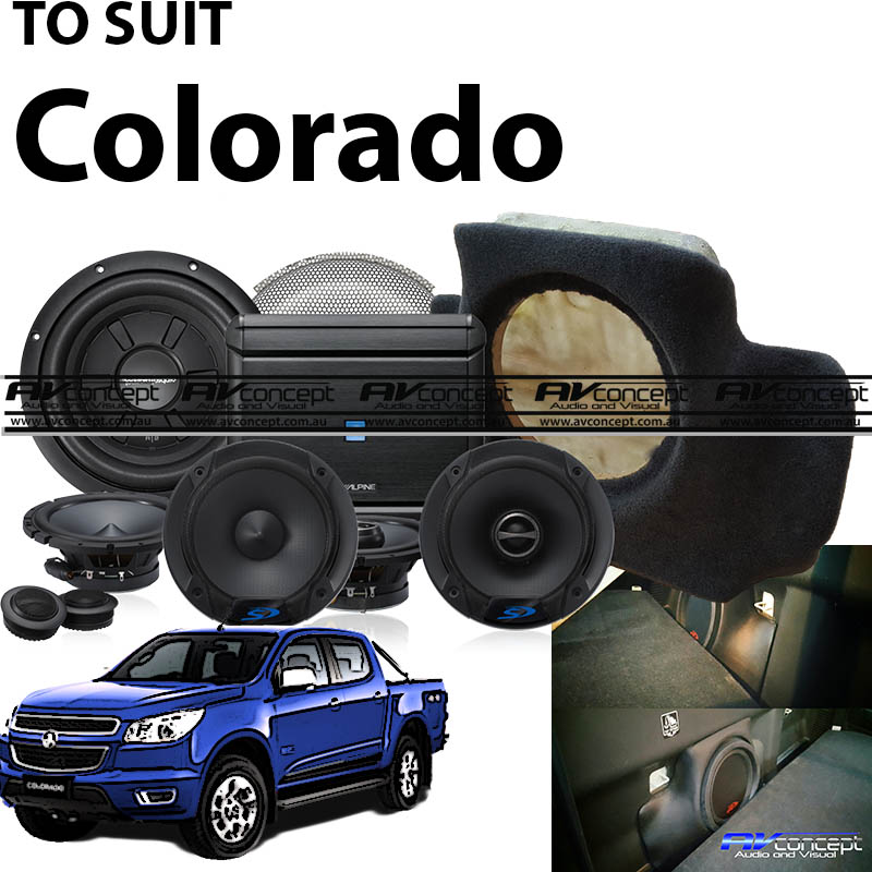 Holden Colorado Stereo Upgrade ultimate factory boost with add on 10″ Sub