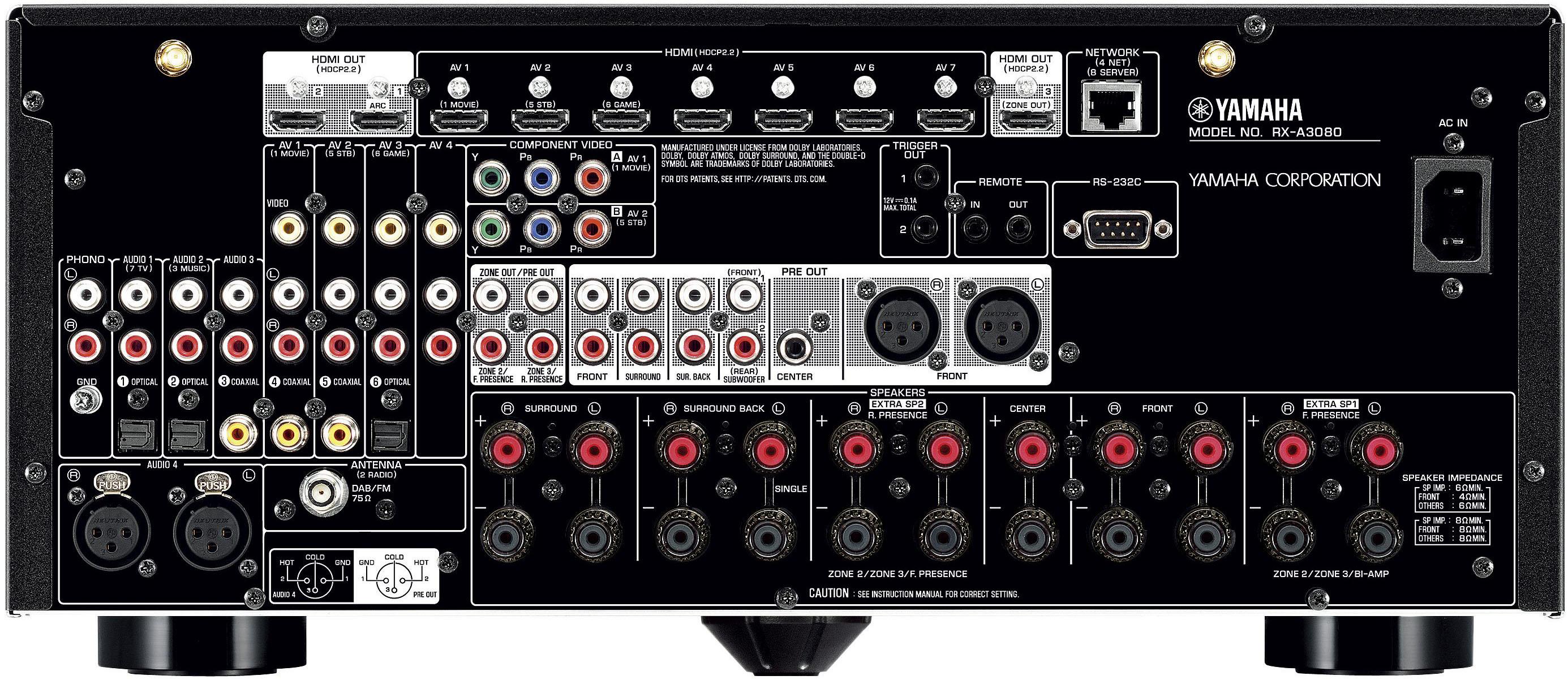 Yamaha Aventage Rx A3080 Av Receiver Av Concept Audio